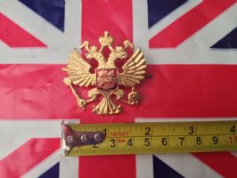 RUSSIAN COAT OF ARMS HAT BADGE